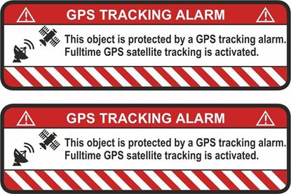 Picture of GPS Tracking System Decals / Stickers