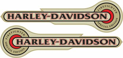 Picture of Harley Davidson  Firefight Tank Decals / Stickers