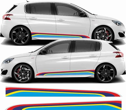 Picture of Peugeot 308 PTS Rallye lower Stripes / Stickers