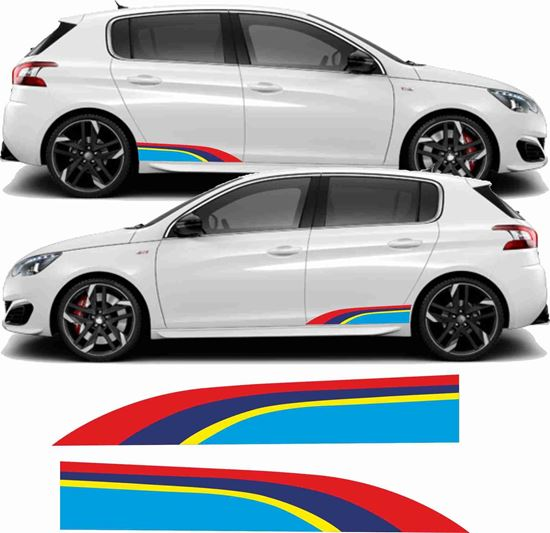Picture of Peugeot 308 PTS Rallye lower rear Stripes / Stickers