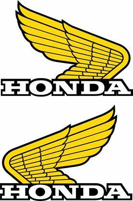 Picture of Honda Classic Tank / Panel replacement Decals / Stickers