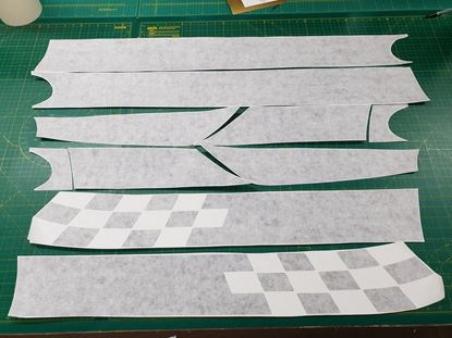 Picture of Fiat 500 / 595 Carbon Fibre side Stripes / Stickers FACTORY FIT