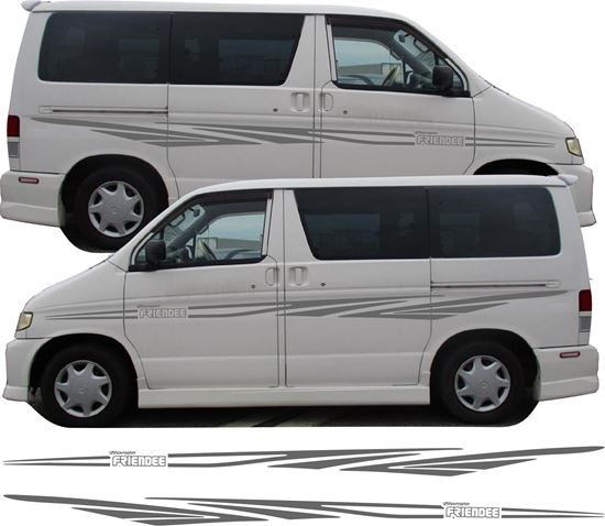 "Picture of Mazda ""Bongo Friendee"" Side Stripes / Graphics"