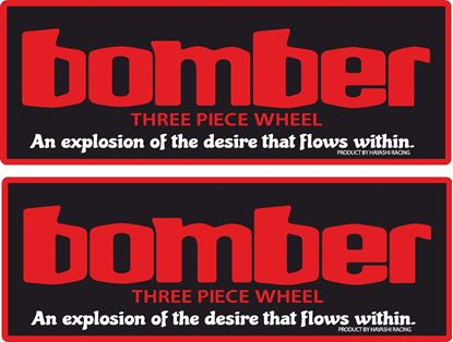 Picture of Bomber Hayashi Racing Wheel  Decals / Stickers