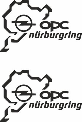 "Picture of Opel ""OPC Nurburgring"" Decals / Stickers"
