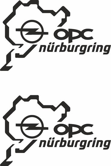 """Picture of Opel """"OPC Nurburgring"""" Decals / Stickers"""