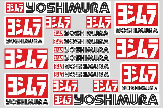 "Picture of ""Yoshimura""  Track and street race sponsor Sticker Sheet"