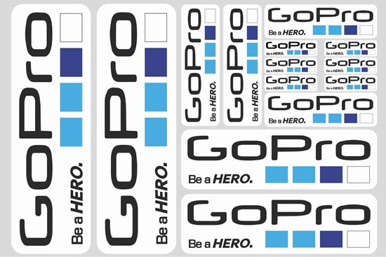 """Picture of """"GoPro..."""" Track and street race sponsor Sticker Sheet"""