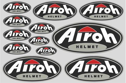 "Picture of ""Airoh Helmet""  Track and street race sponsor Sticker Sheet"
