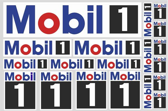 "Picture of ""Mobil 1""  Track and street race sponsor Sticker Sheet"