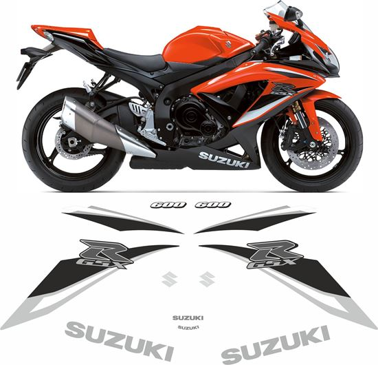 Picture of Suzuki GSX-R 600 K9 2009 replacement Decals / Stickers