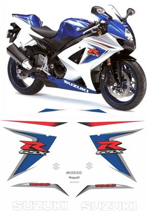 Picture of Suzuki GSX-R 1000 K8 2007 - 2008 replacement Decals / Stickers