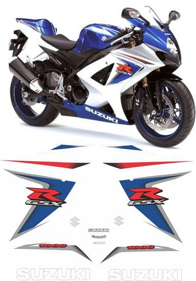Picture of Suzuki GSX-R 1000 K8 2007 - 2008 replacement Decals / Stickers