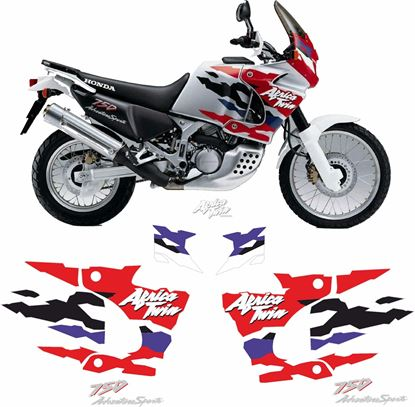 Picture of Honda XRV African Twin 750 1997 - 1998  full Restoration Decals / Stickers
