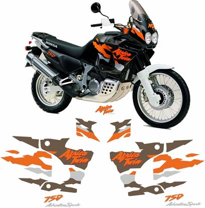 Picture of Honda XRV African Twin 750 1997 - 1998 full replacement Decals / Stickers