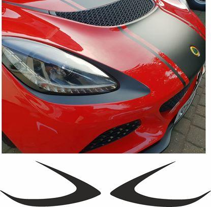 Picture of Lotus Exige S series 3 Headlight surround Vinyl / Stickers