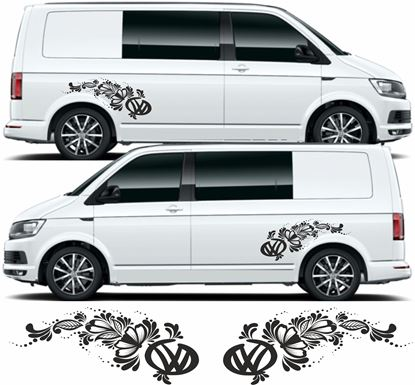 Picture of VW T4 / T5 / T6  side Floral  Decals / Stickers