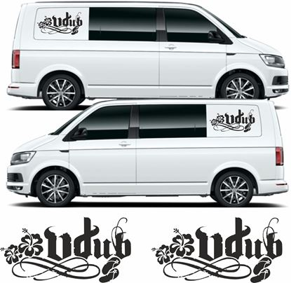 "Picture of VW  Transporter ""Vdub"" side panel Decals / Stickers"