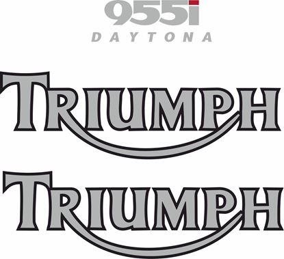 Picture of Triumph Daytona 955i  replacement Tank Decals / Stickers