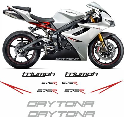 Picture of Triumph Daytona 675R 2011 replacement Decals / Stickers
