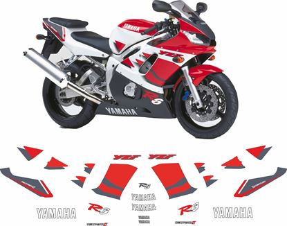 Picture of Yamaha YZF R6 1999 - 2000  replacement Decals / Stickers