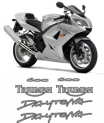 Picture of Triumph Daytona 600 2005 replacement Decals / Stickers - copy