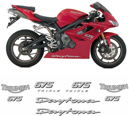 Picture of Triumph Daytona 675 Triple 2007 - 2009  replacement Decals / Stickers