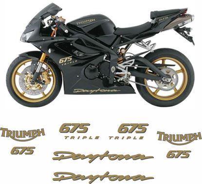 Picture of Triumph Daytona 675 Triple 2008 replacement Decals / Stickers