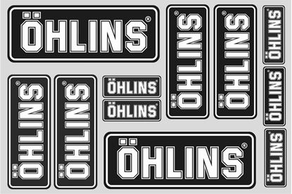 """Picture of """"Ohlins""""  Track and street race sponsor Sticker Sheet"""
