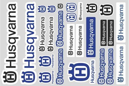 "Picture of ""Husqvarna""  Track and street race sponsor Sticker Sheet"