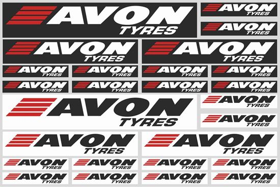 "Picture of ""Avon Tyres""  Track and street race sponsor Sticker Sheet"