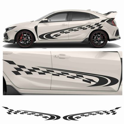 Picture of JDM side Chequer Swoosh Graphics