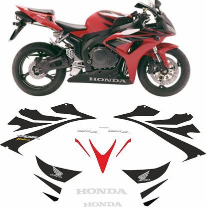 Picture of Honda CBR 1000RR Fireblade 2006-2007  replacement Decals / Stickers