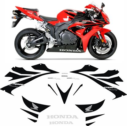 Picture of Honda CBR 1000RR Fireblade (Racing) 2006-2007  replacement decals / Stickers