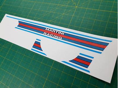 Picture of Fiat 500 / 595 Abarth interior Dash Stripe  / Sticker (Martini)