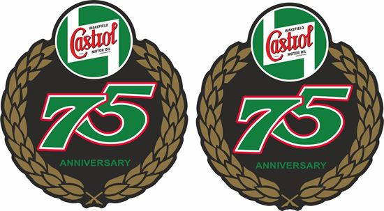 Picture of Lambretta Castrol 75th  Anniversary Decals / Stickers