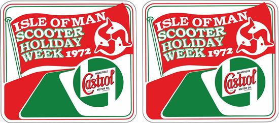 Picture of Lambretta  Castrol Isle of Man Scooter Holiday 1972 Decals / Stickers