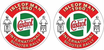 Picture of Lambretta  Castrol Isle of Man Scooter Holiday 1960 Decals / Stickers