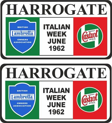 Picture of Lambretta  BLOA Castrol Harrogate Italian week 1962 Decals / Stickers