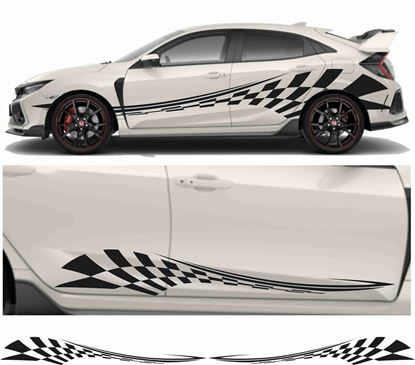 Picture of JDM side Chequer Graphics