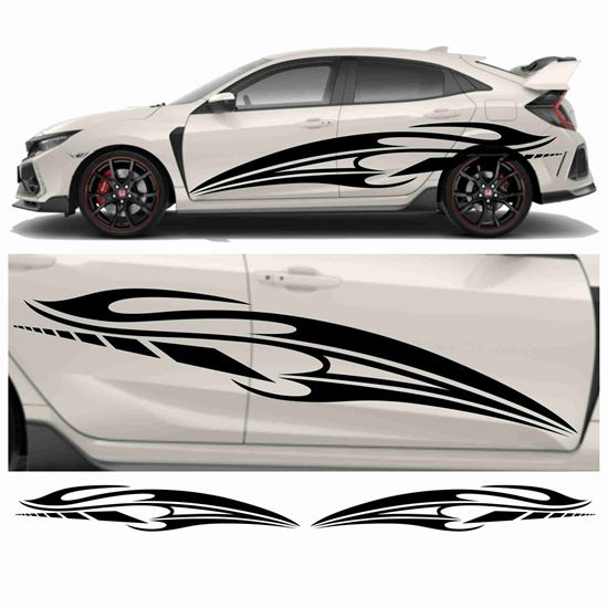 Picture of JDM side Tribal Swoosh Graphics