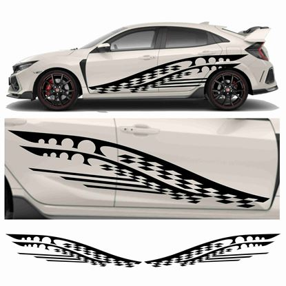 Picture of JDM side Razor Chequer Graphics
