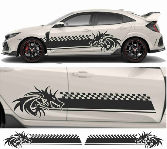 Picture of JDM side Dragon Chequer Graphics