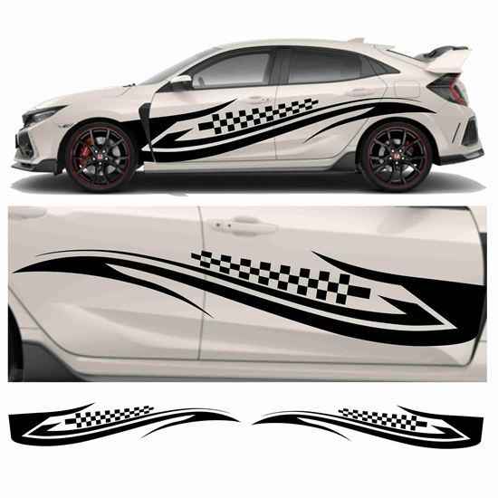 Picture of JDM side Tribal  Chequer Graphics