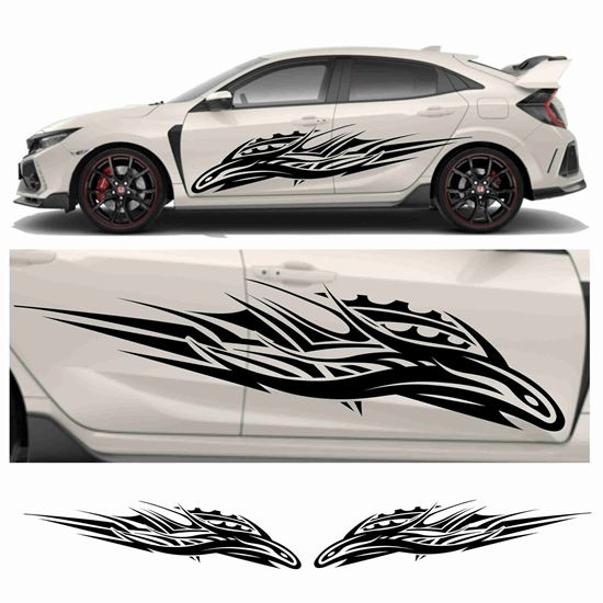 Picture of JDM side Snake Tribal Graphics