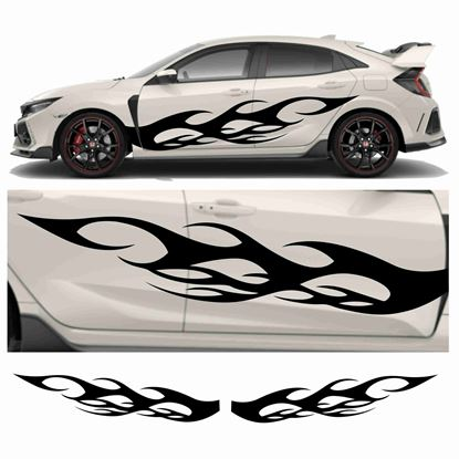 Picture of JDM side Flame Graphics