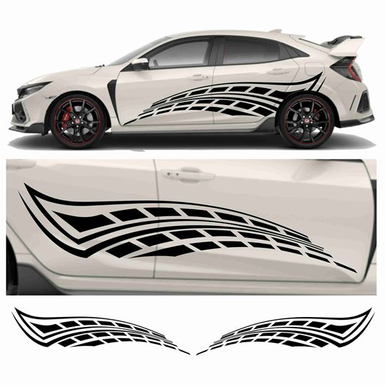 Picture of JDM side Chequer Wave Graphics