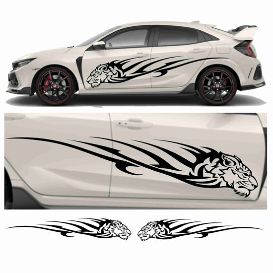 Picture of JDM side Tiger Tribal  Graphics