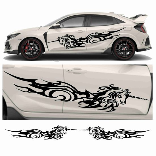 Picture of JDM side Unicorn Tribal Graphics