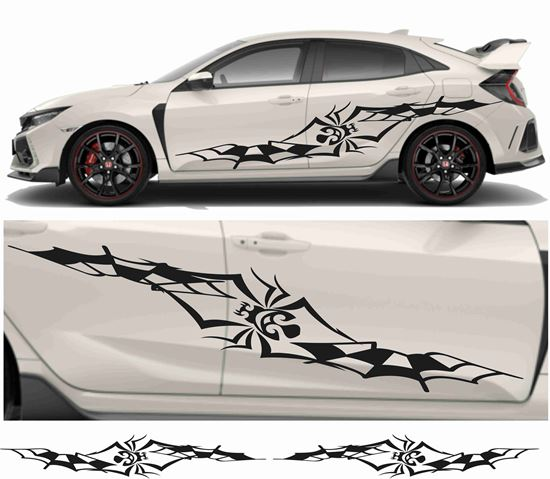 Picture of JDM side Spider and webs Graphics